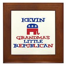Kevin - Grandma's Little Repu Framed Tile