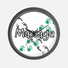 Feet and Hands Massage Wall Clock
