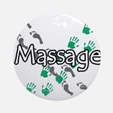 Feet and Hands Massage Ornament (Round)