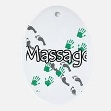 Feet and Hands Massage Oval Ornament