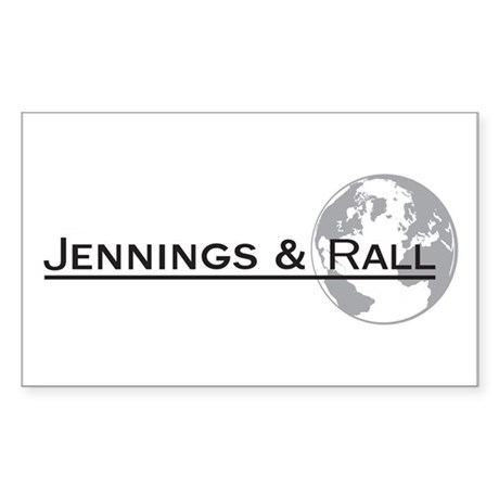J&R Logo B&W Full Rectangle Sticker