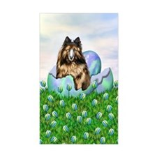 Belgian Tervuren Easter Rectangle Decal