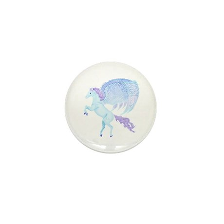 Birthday Pegasus Picture Mini Button (10 pack)