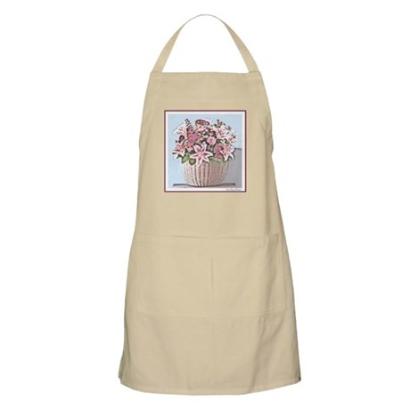 Watercolor Floral Basket Apron