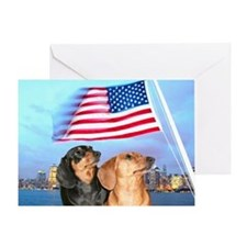 USA Dachshunds Greeting Card