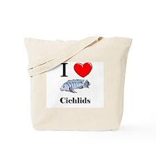 I Love Cichlids Tote Bag