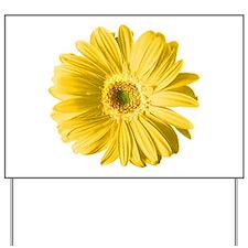Pop Art Yellow Daisy Yard Sign