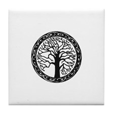 Cute Celtic tree of life Tile Coaster