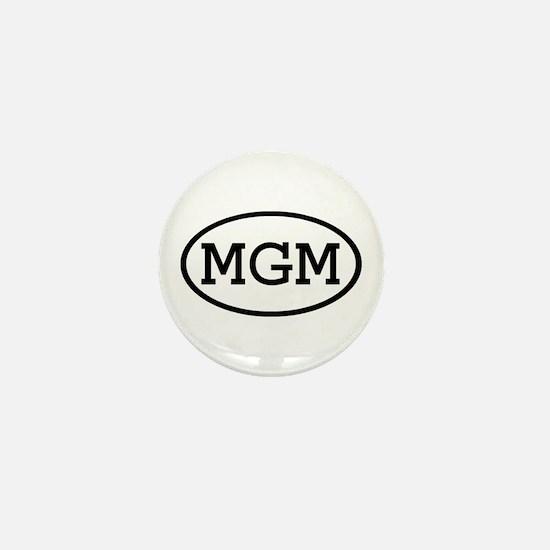 MGM Oval Mini Button