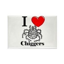 I Love Chiggers Rectangle Magnet