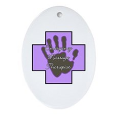 Emergency Massage Therapist Oval Ornament