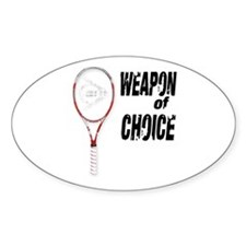 TENNIS - WEAPON OF CHOICE Oval Stickers