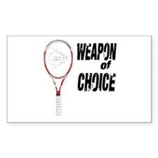 TENNIS - WEAPON OF CHOICE Rectangle Decal