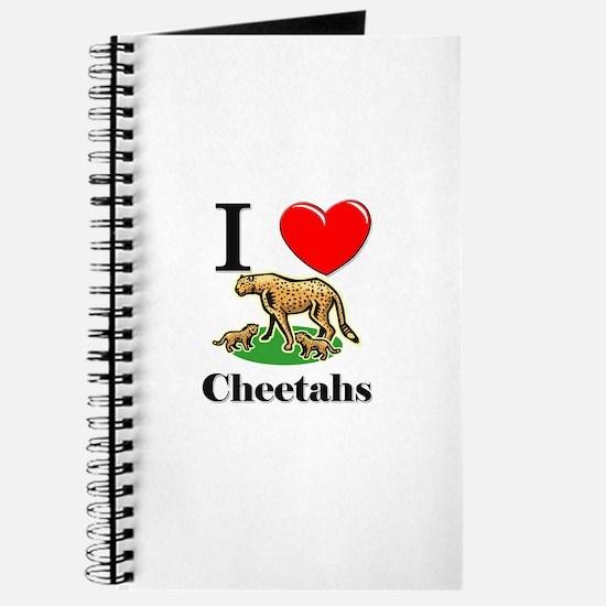 I Love Cheetahs Journal