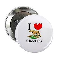 """I Love Cheetahs 2.25"""" Button (10 pack)"""