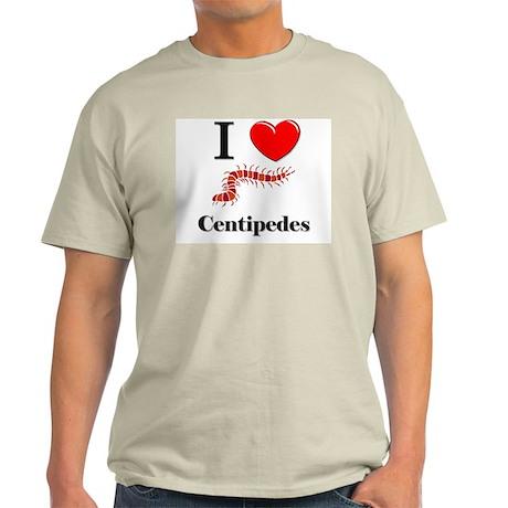 I Love Centipedes Light T-Shirt