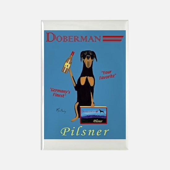 Doberman Pilsner Rectangle Magnet
