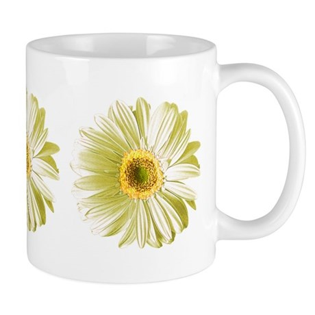 Pop Art White Daisy Mug