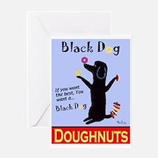 Black Dog Doughnuts Greeting Card