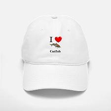 I Love Catfish Baseball Baseball Cap