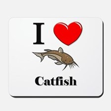 I Love Catfish Mousepad