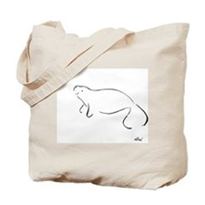 Manatee Brush Art Tote Bag