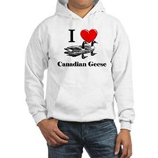I Love Canadian Geese Jumper Hoody