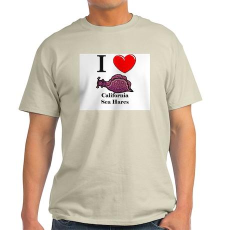I Love California Sea Hares Light T-Shirt