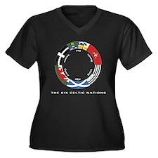 Celtic Nations Women's +Size V-Neck Black