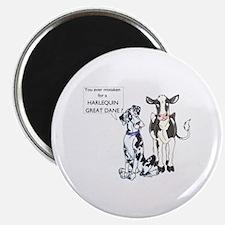 N Great Dane & Cow Magnet