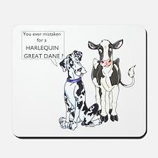 N Great Dane & Cow Mousepad