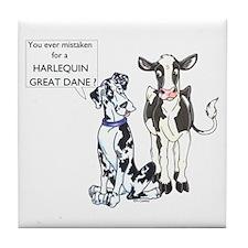 N Great Dane & Cow Tile Coaster