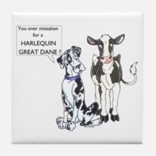 N Great Dane & Cow Tile Coaster