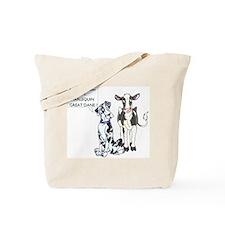 N Great Dane & Cow Tote Bag