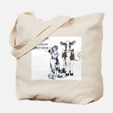 N Great Dane & Cow Tote Bag