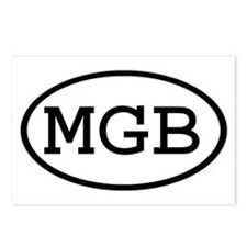 MGB Oval Postcards (Package of 8)