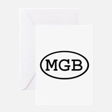 MGB Oval Greeting Card