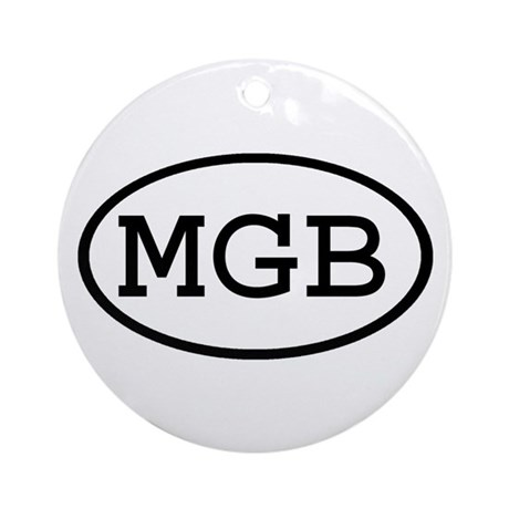 MGB Oval Ornament (Round)