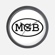 MGB Oval Wall Clock