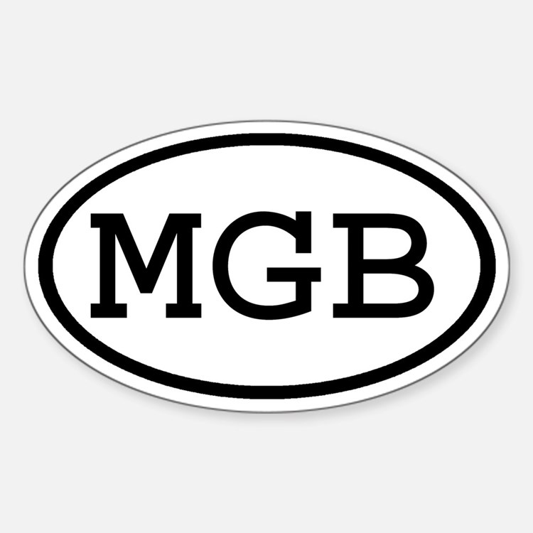MGB Oval Oval Decal