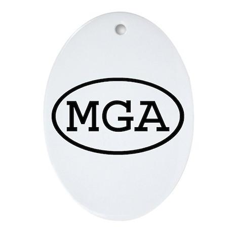 MGA Oval Oval Ornament