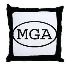 MGA Oval Throw Pillow