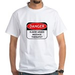 Elbow Armed Massage Therapist White T-Shirt