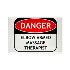 Elbow Armed Massage Therapist Rectangle Magnet