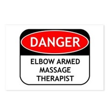 Elbow Armed Massage Therapist Postcards (Package o