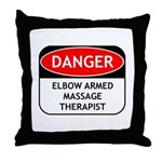 Elbow Armed Massage Therapist Throw Pillow