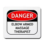 Elbow Armed Massage Therapist Mousepad