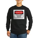 Elbow Armed Massage Therapist Long Sleeve Dark T-S