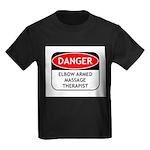 Elbow Armed Massage Therapist Kids Dark T-Shirt