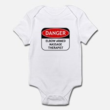 Elbow Armed Massage Therapist Infant Bodysuit